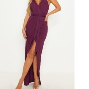 PLT Plum Wrap Maxi Dress